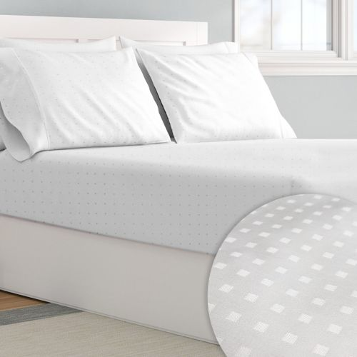 Pizuna 600 Thread Count Cotton Damask Fitted Sheet
