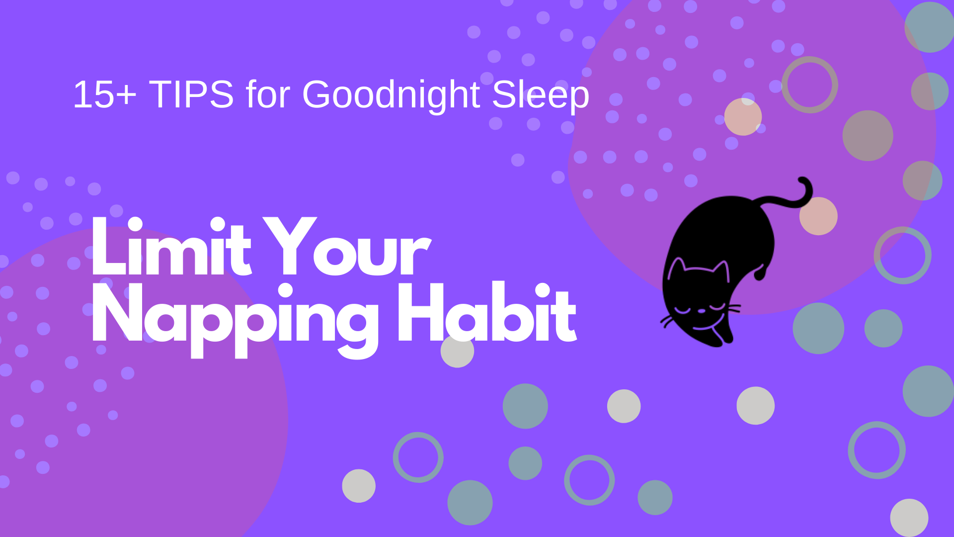 Limit Your Napping Habit