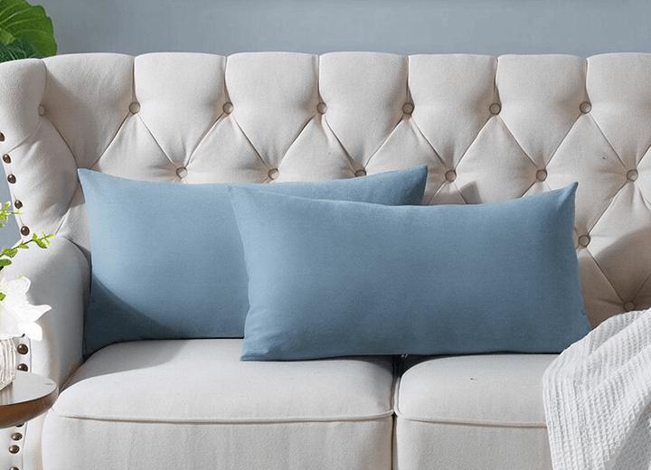 cotton lumbar pillow cases