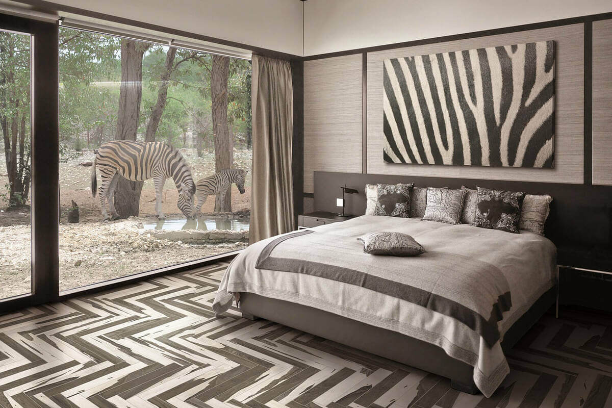 Geometric patterns flooring tiles